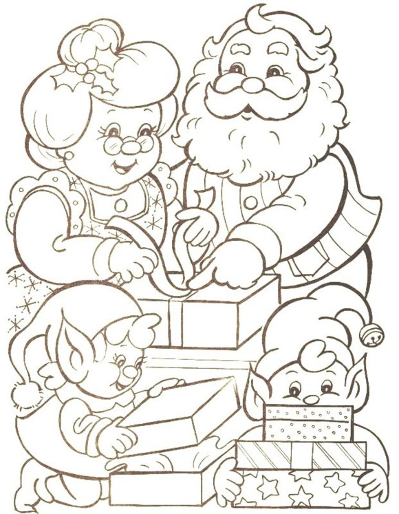 Best Santa Claus Coloring Sheets, Pages And Images 2015 | Happy ...