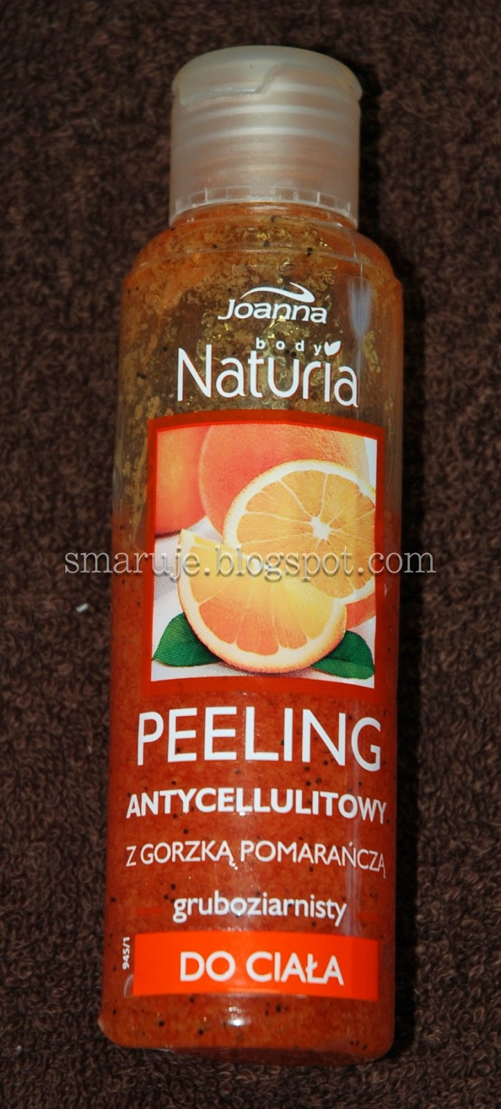 Joanna / Naturia – Peeling antycellulitowy gruboziarnisty – gorzka pomarańcza [recenzja]