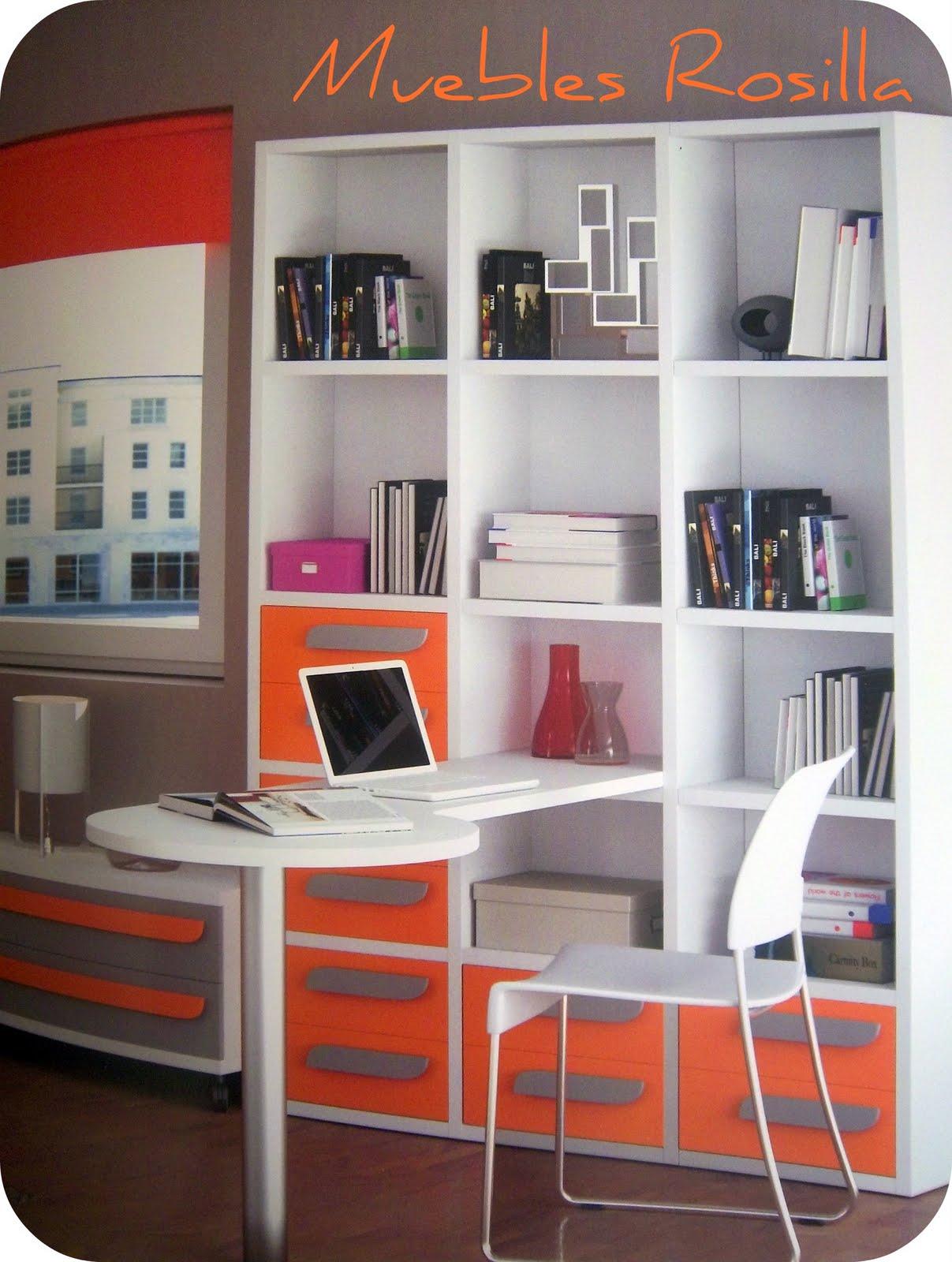 Muebles rosilla herv s como organizar la zona de estudio for Muebles hervas