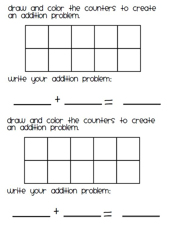 Common Worksheets Ten Frame Worksheets Preschool and – Ten Frame Worksheets