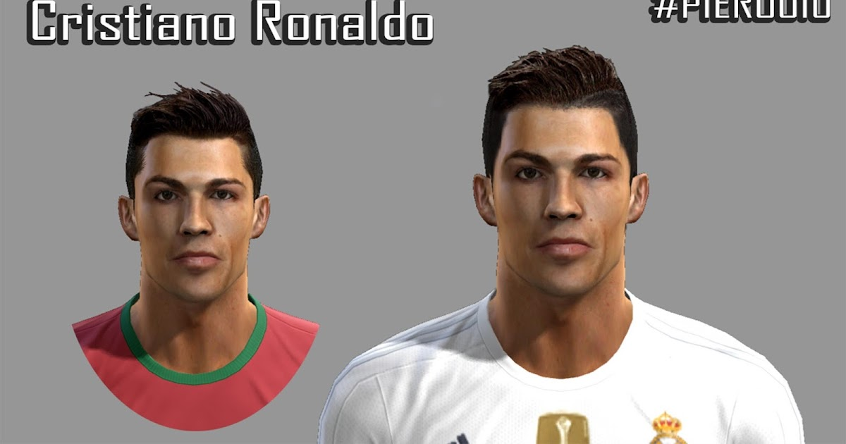 PESMODIF PES Cristiano Ronaldo Face By PieroU - New face hair cristiano ronaldo pes 2013