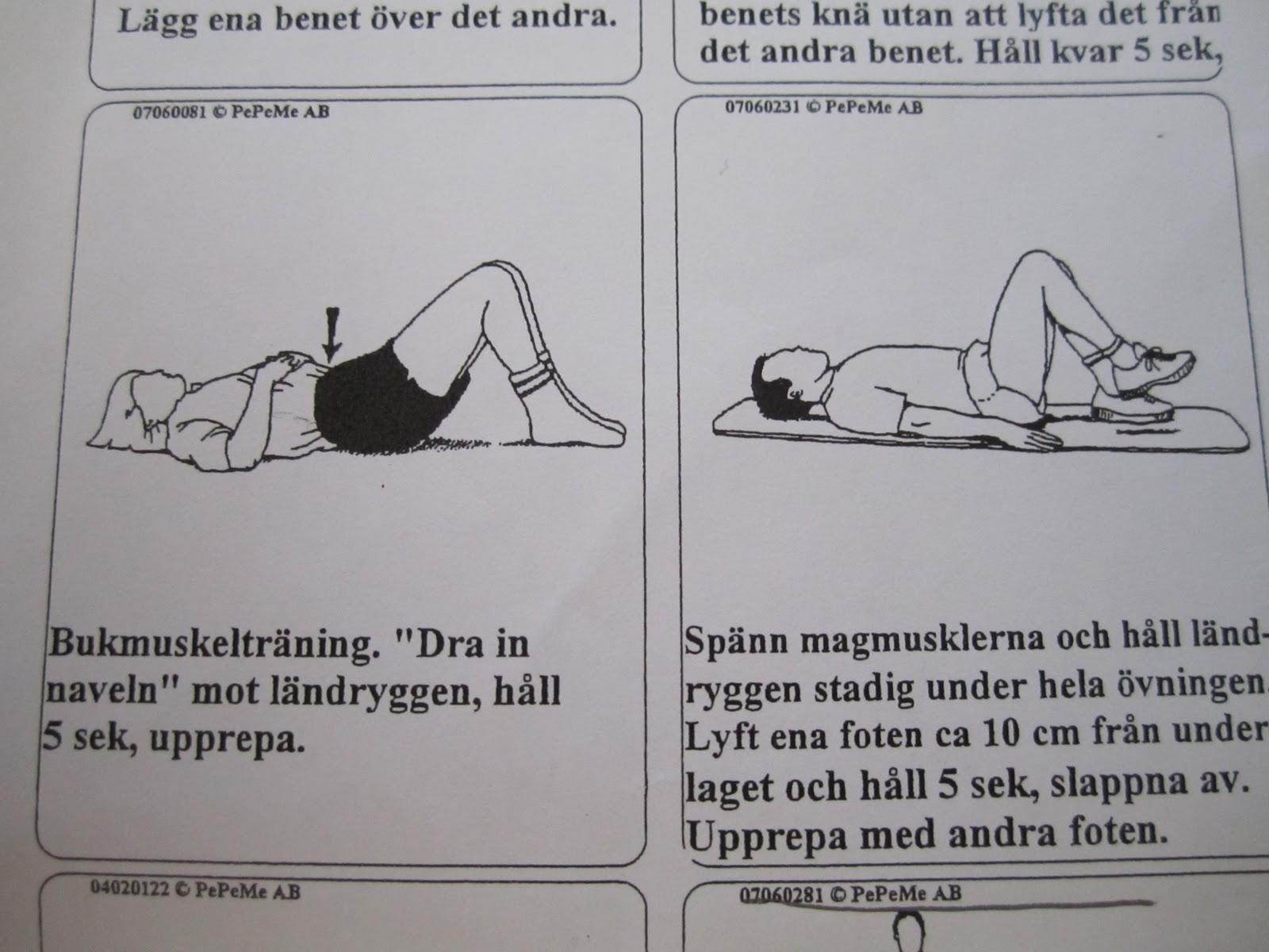 diskbråck behandling övningar