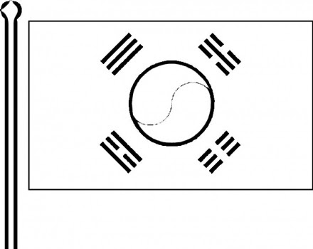 korean flag coloring page - korean flag to color child coloring