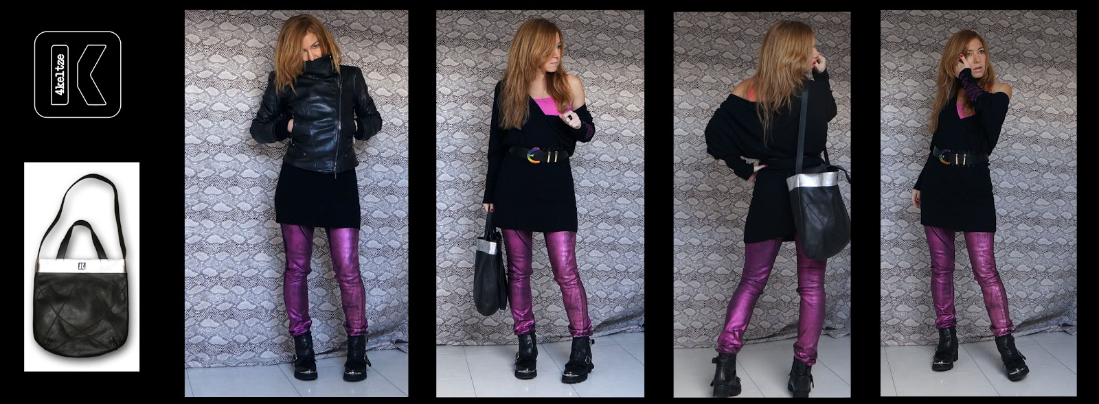 bolso k-tastic y look rock chic