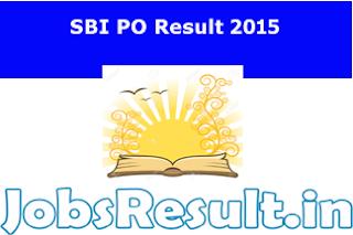 SBI PO Result 2015