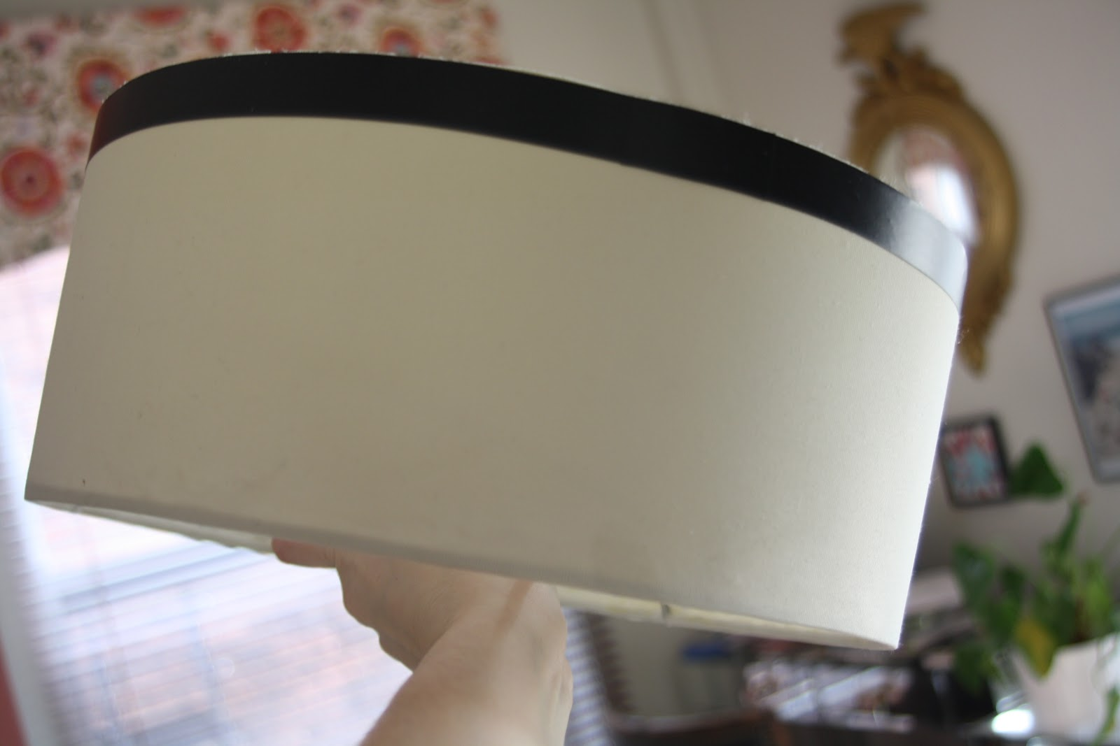 adding trim to the lampshade for the ceiling fan diy
