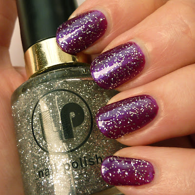 Laura Paige Grape Vine and Crystal Daze Nail Polish swatch