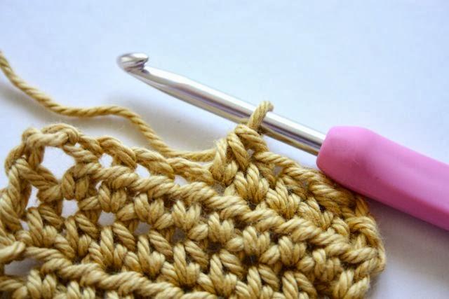 ... The half treble crochet (half double crochet) stitch is now complete