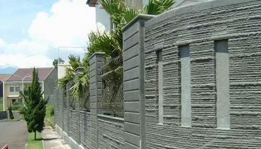 contoh pagar rumah dari tembok images rumah minimalis