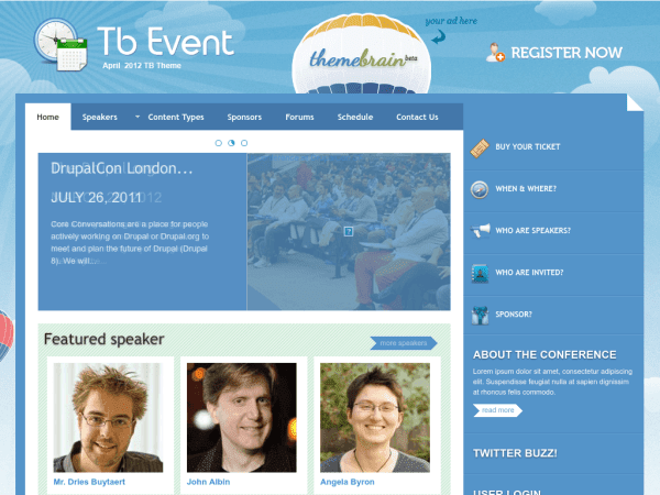 TB Events Drupal theme