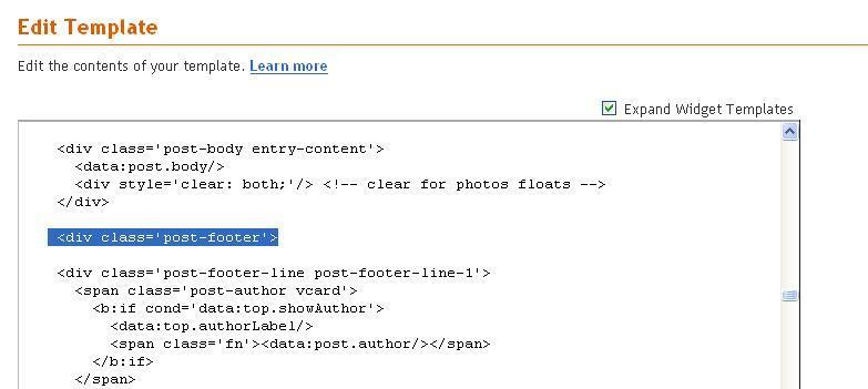 edit template blogger