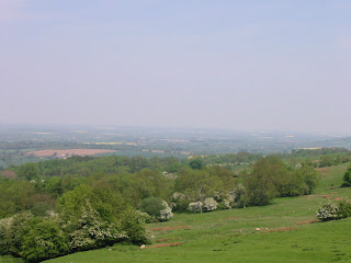 A view from the Cotswold Edge, above Chipping Campden, when the hawthorn was heavy with May Blossom