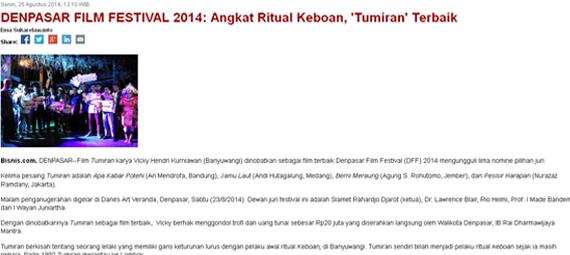 http://bali.bisnis.com/m/read/20140825/12/46530/denpasar-film-festival-2014-angkat-ritual-keboan-tumiran-terbaik