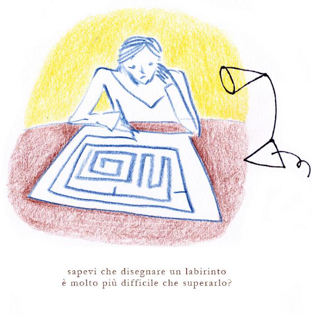 labirinto camus illustrazione ballarini