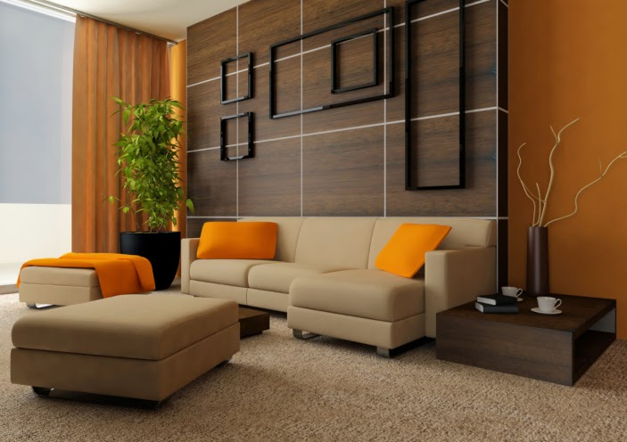 Living room paint color ideas orange combinations for Living room ideas orange