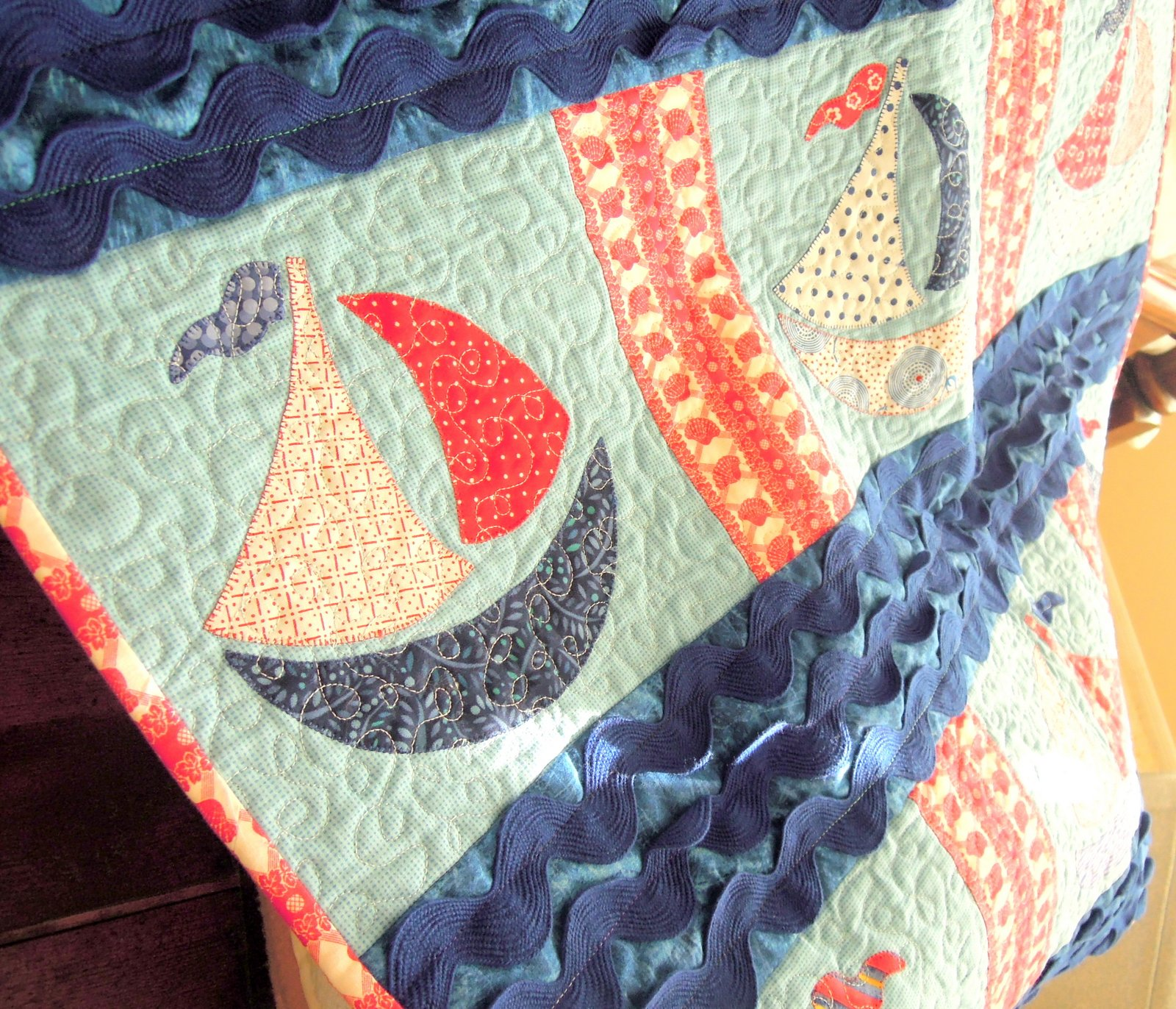 Sea Quilts: ~ Sailboat Quilt for Sale + More! ~ : sailboat quilt pattern - Adamdwight.com