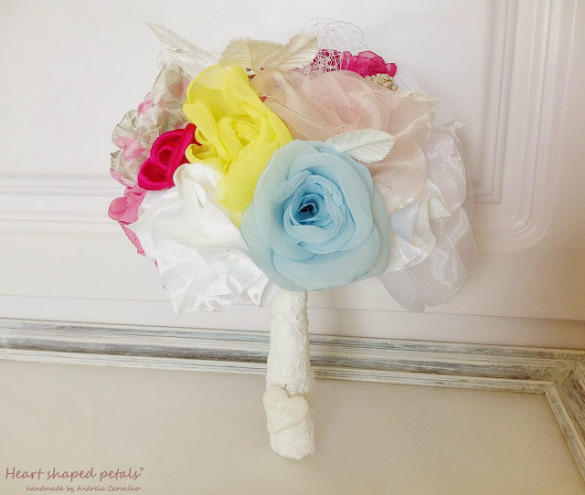 Wedding fabric bouquet colorful