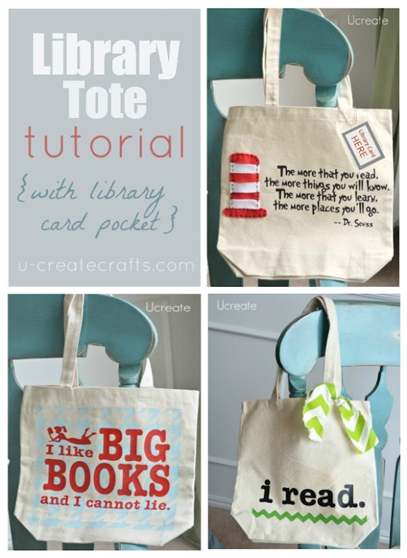 DIY library tote