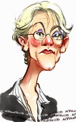 Gudrun Schyman är en svensk politiker här karikerad av Artmagenta
