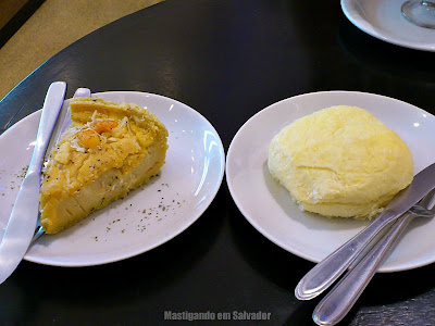 Maricota Café: Torta salgada de Camarão e Pão Delícia