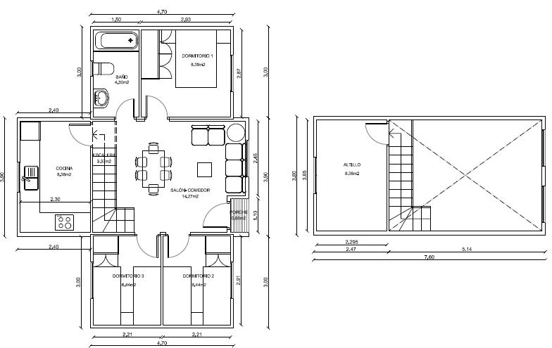 Plano casa madera prefabricada 77 m2 planos de casas gratis - Planos de casas de madera gratis ...