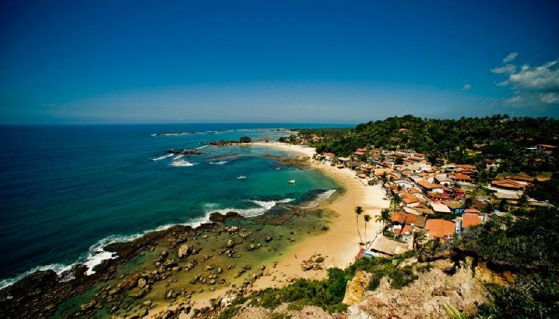 Tiny towns Morro de Sao Paulo, Brazil