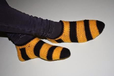 Pantofle na drutach