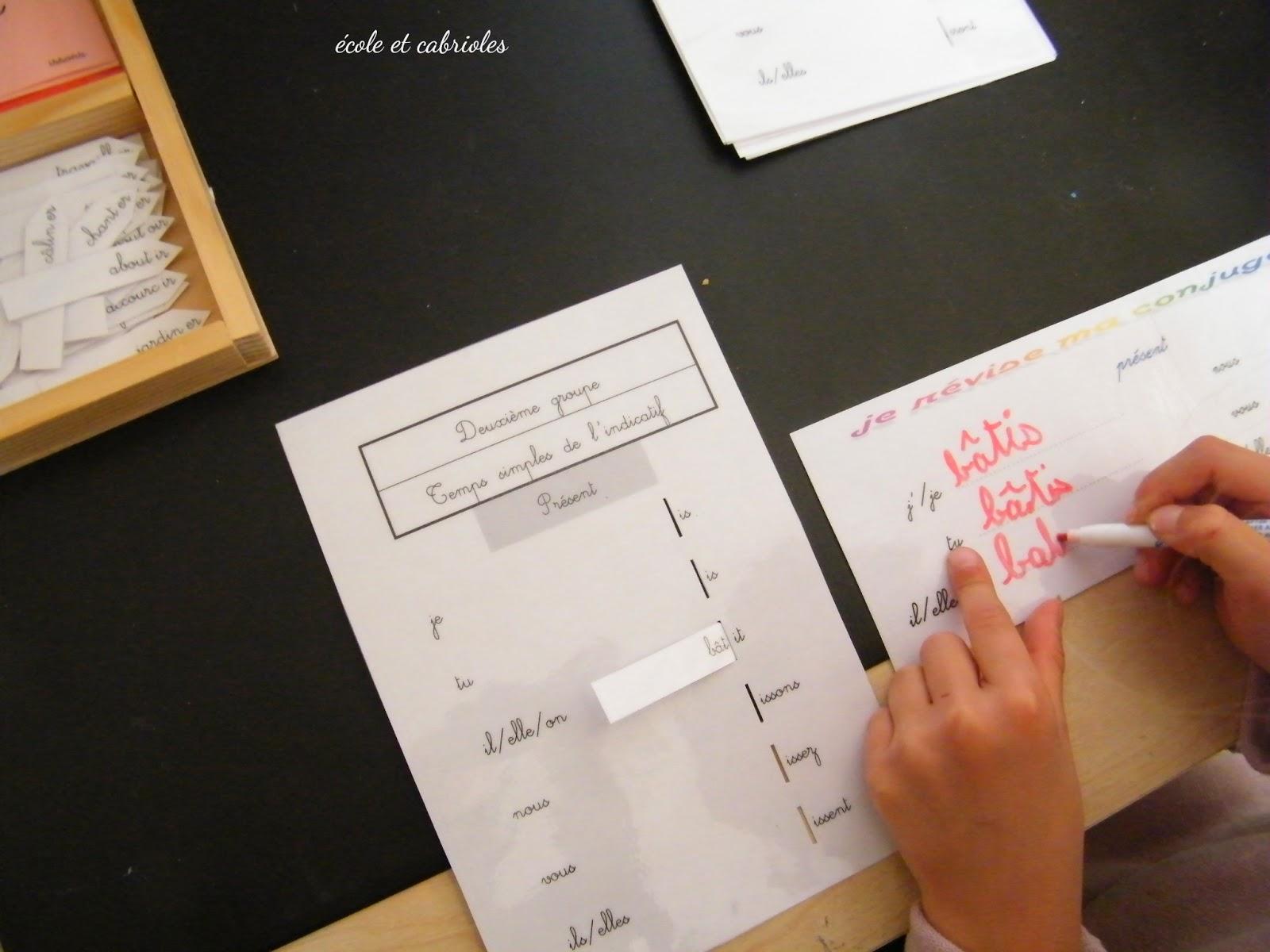 Ecole Et Cabrioles Une Ecole Montessori A La Maison Les Fiches A Encoches