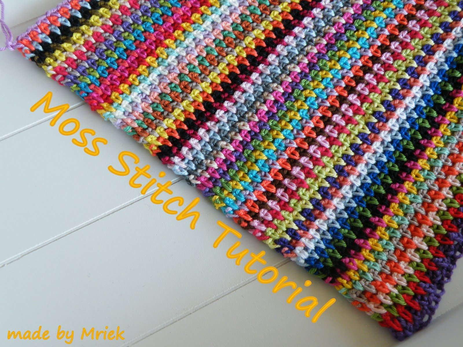 Crochet Stitches Moss Stitch : Moss stitch tutorial