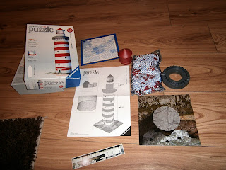 content of the 3d puzzle lighthouse from ravensburger