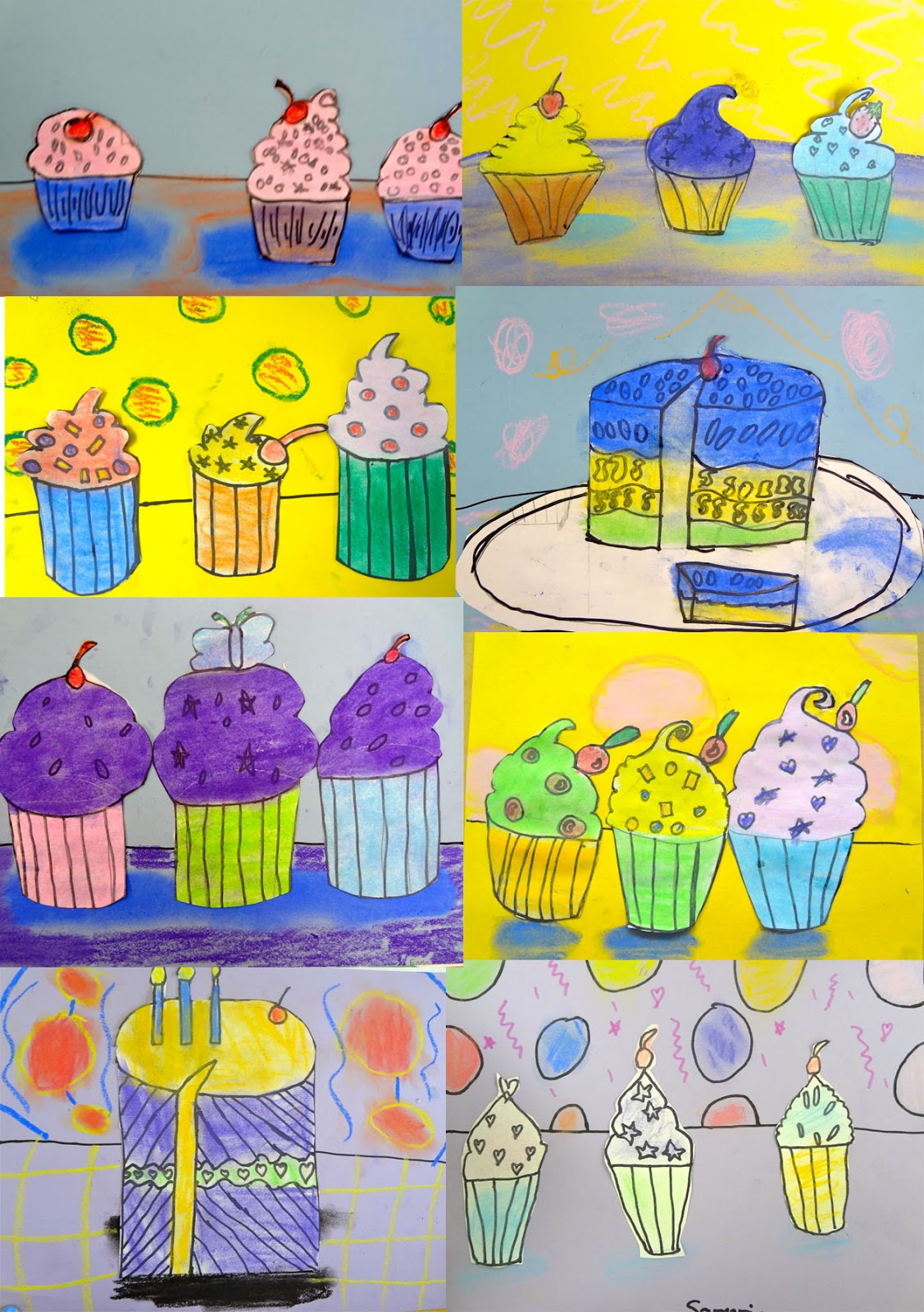 Cupcake Art Lesson : The Talking Walls: Wayne Thiebaud Lesson for 3rd Grade