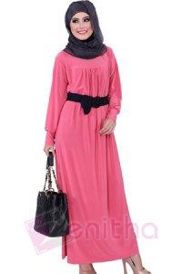 Zenitha Gamis Zn113 - Salem (Toko Jilbab dan Busana Muslimah Terbaru)