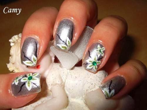 Silver Nail Polish Designs