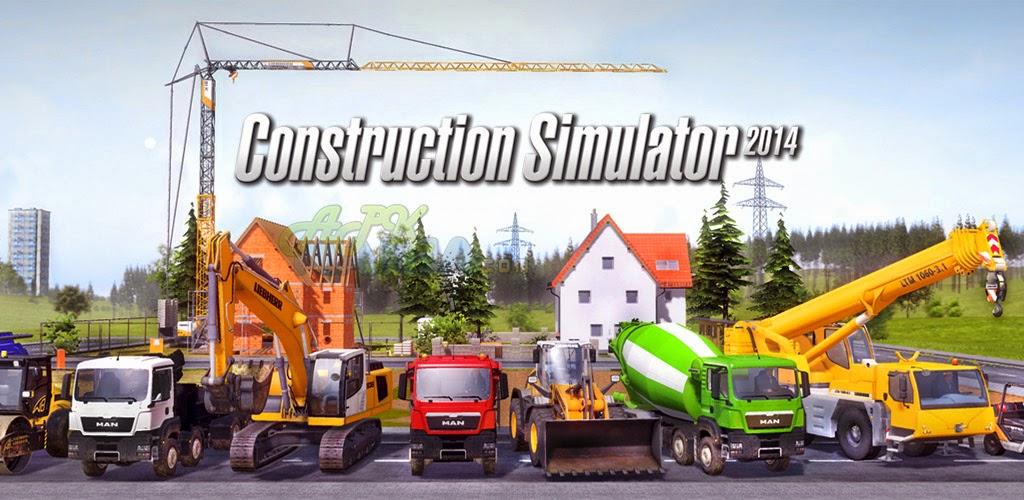 Construction Simulator 2014 v1.11 APK Cover Logo www.justmild.com