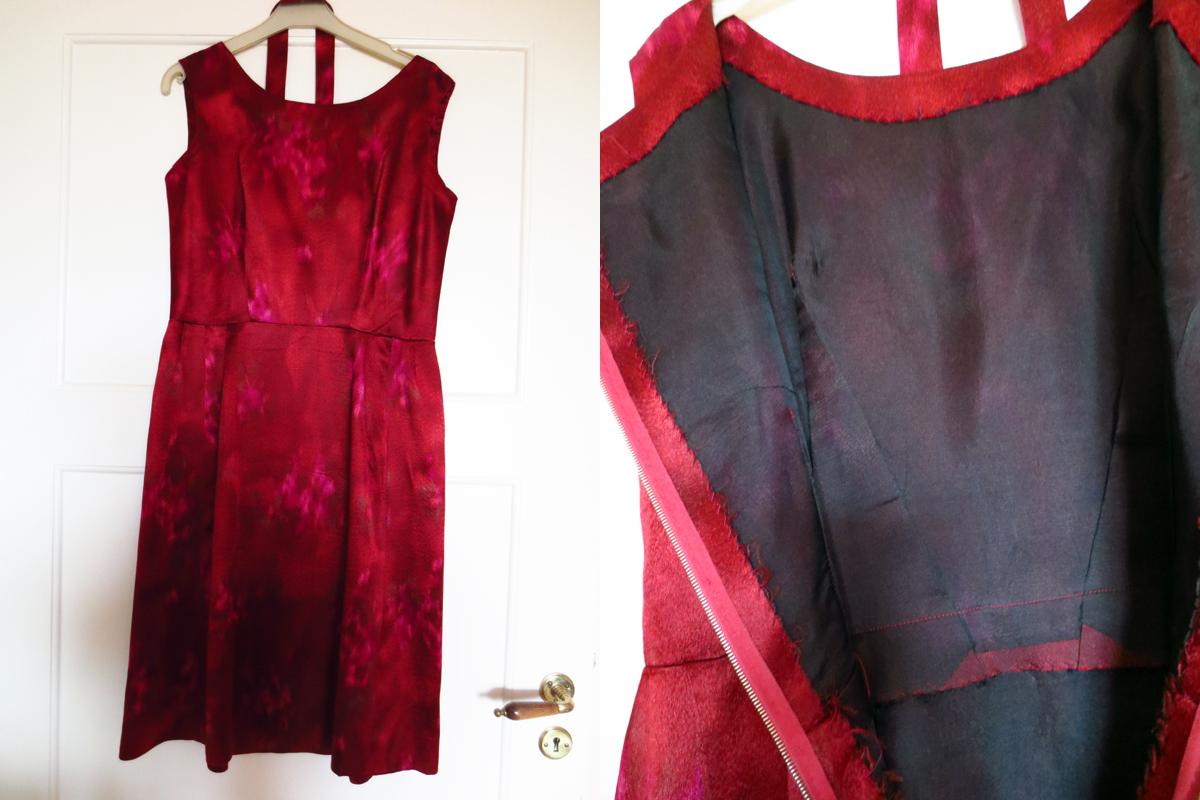 Vintageklänning siden organza foder