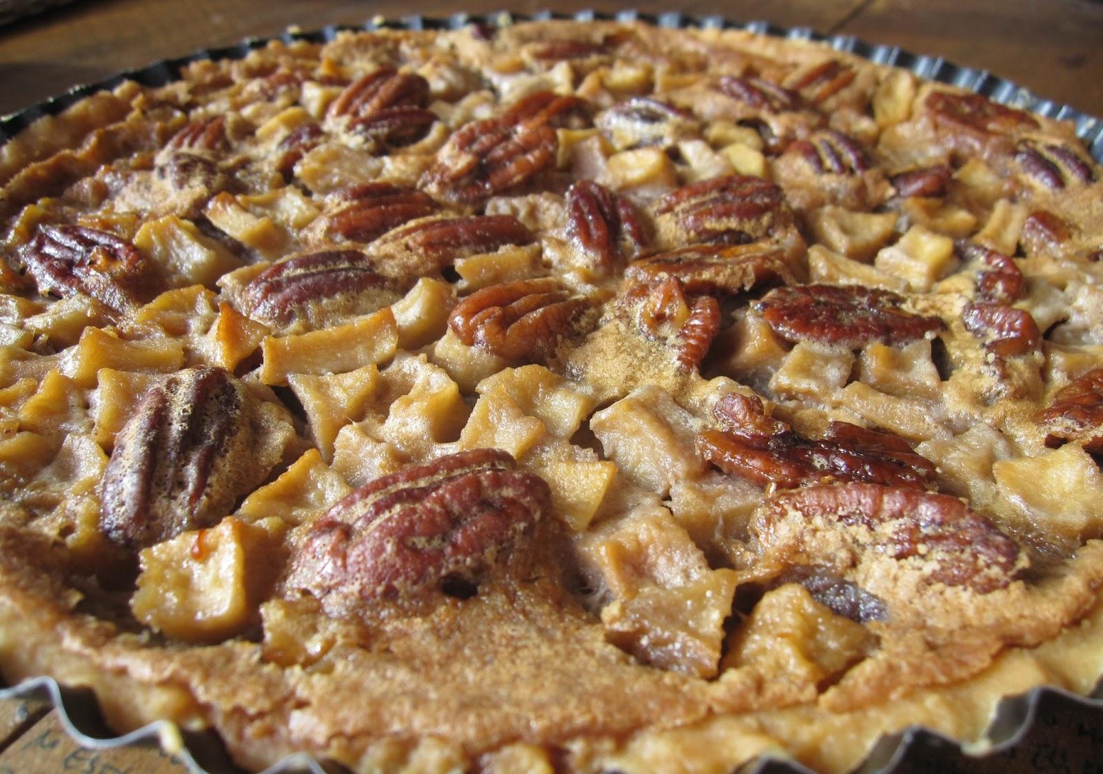 Pie de manzanas y pecanas