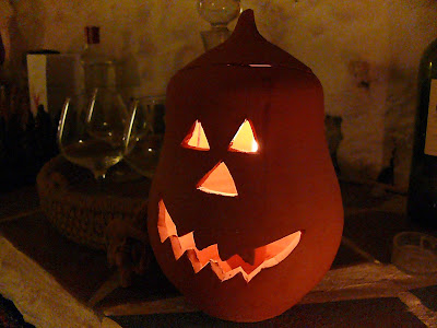 terracotta halloween pumpkin