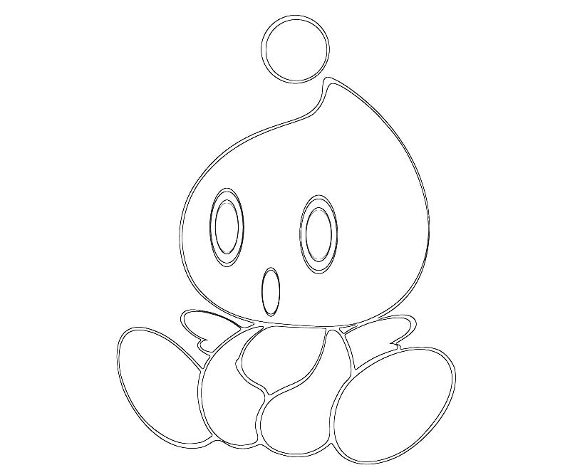 blank chao coloring pages - photo#7