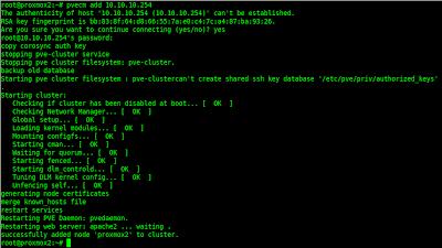 Menambahkan node di cluster