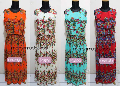 Baju dress chiffon layer