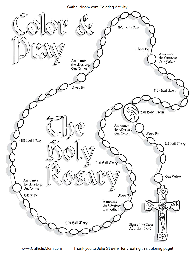 Rosary Art Line Drawings on 1979 f 100