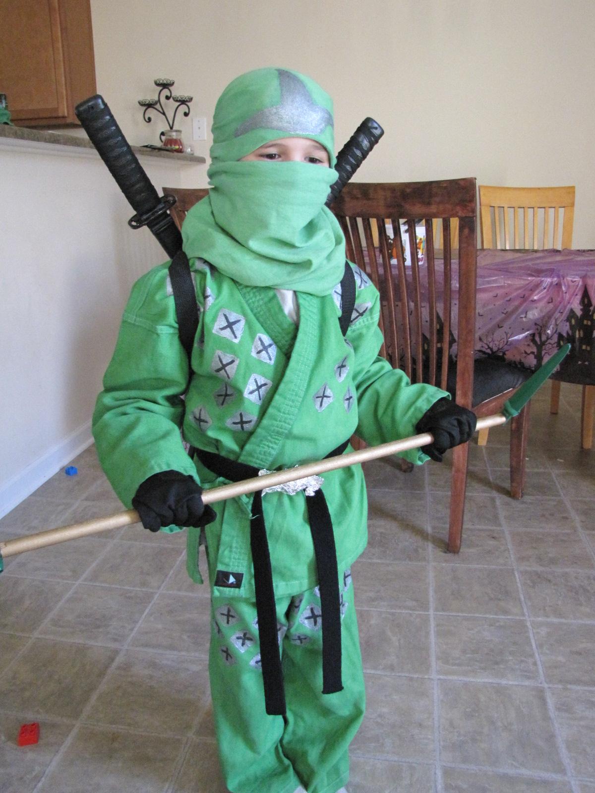 & Roberts Family Adventures: How to Make a Ninjago Green Ninja Costume