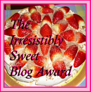 The Irresistably Sweet Blog Award