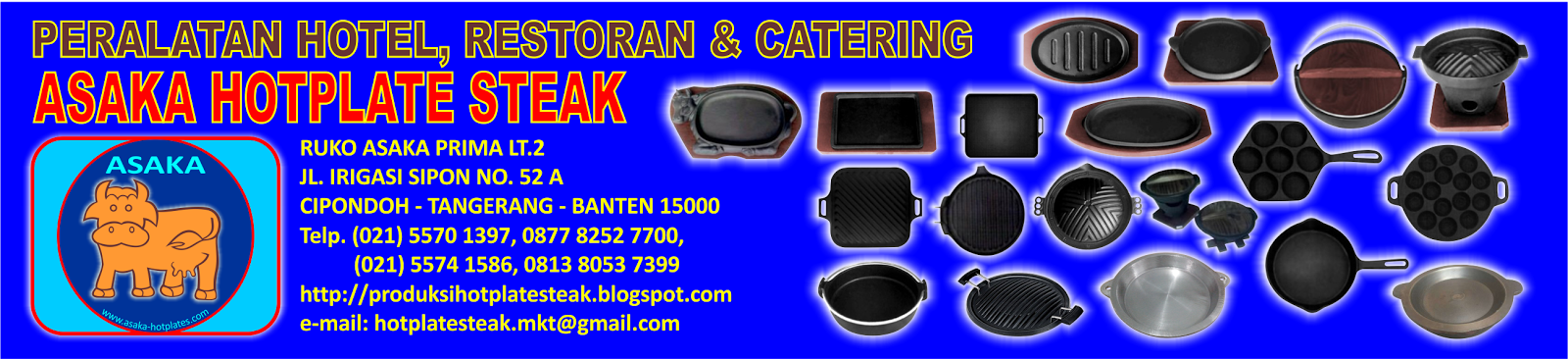 Tempat Grosir Hot Plate/Piring Steak | Takashi Steak Hot Plate Oval & Sapi& Bulat