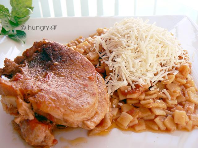 Pork Meat with Pasta (Greek Giouvetsi)