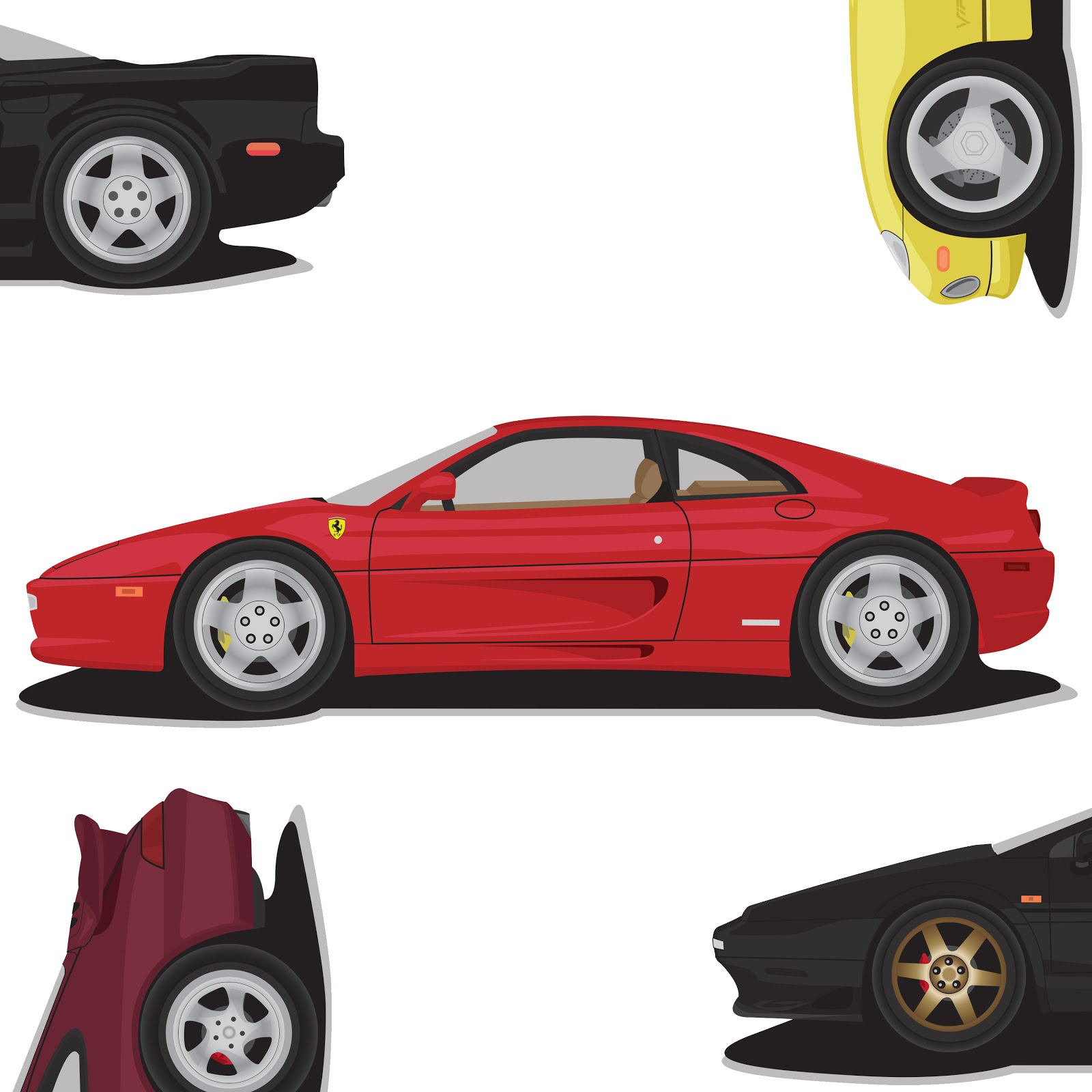 Illustration: Super cars of 1995