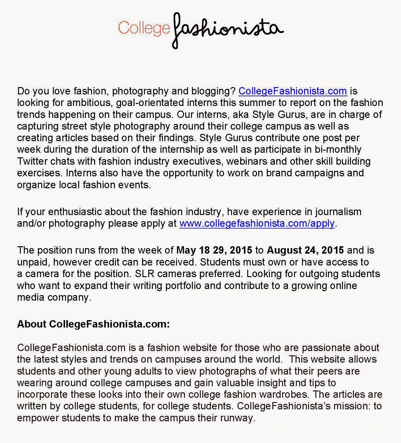 College Fashionista Blog CollegeFashionista Summer