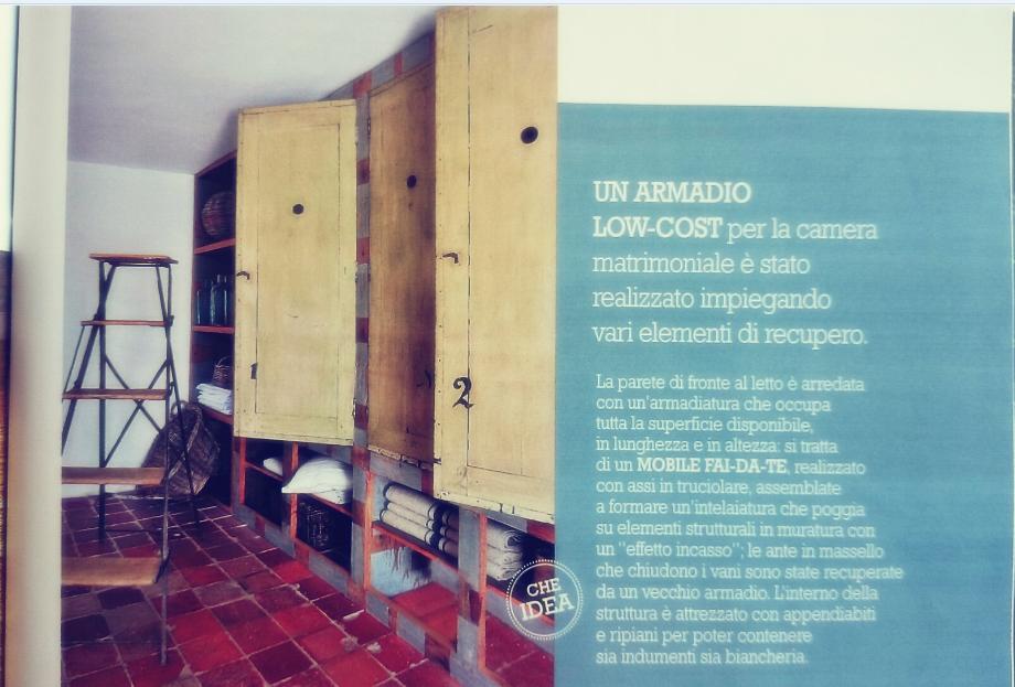 Rustykalna aranżacja garderoby w Cose di Casa