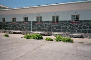nelson mandela's prison yard on robben island