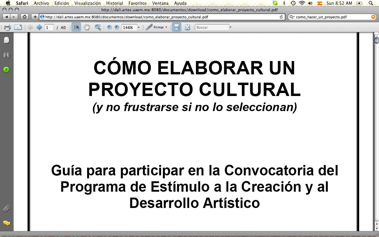 Taller tamayo c mo hacer un proyecto cultural y art stico pdf con informaci n - Como crear un proyecto ...